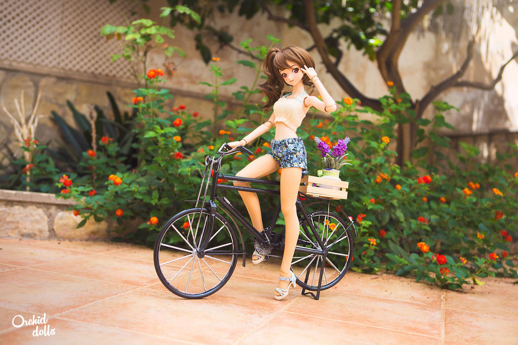 Bicycle . Kanna by OrchidDolls