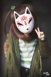 Kitsune mask . Glitch