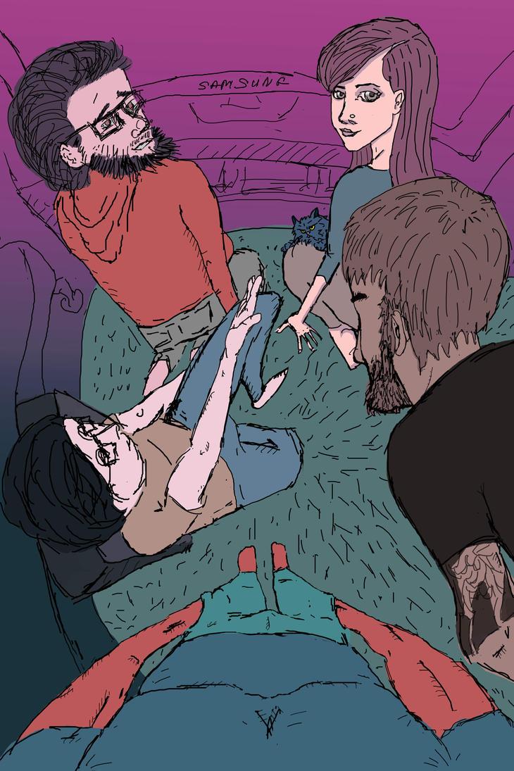 Illustration for friends by cheshirski
