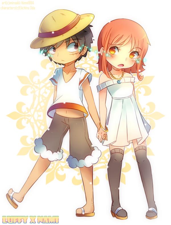 Luffy x Nami by Miruukii-hime on DeviantArt