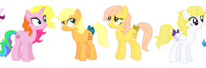 Previous generation of the mane six vector