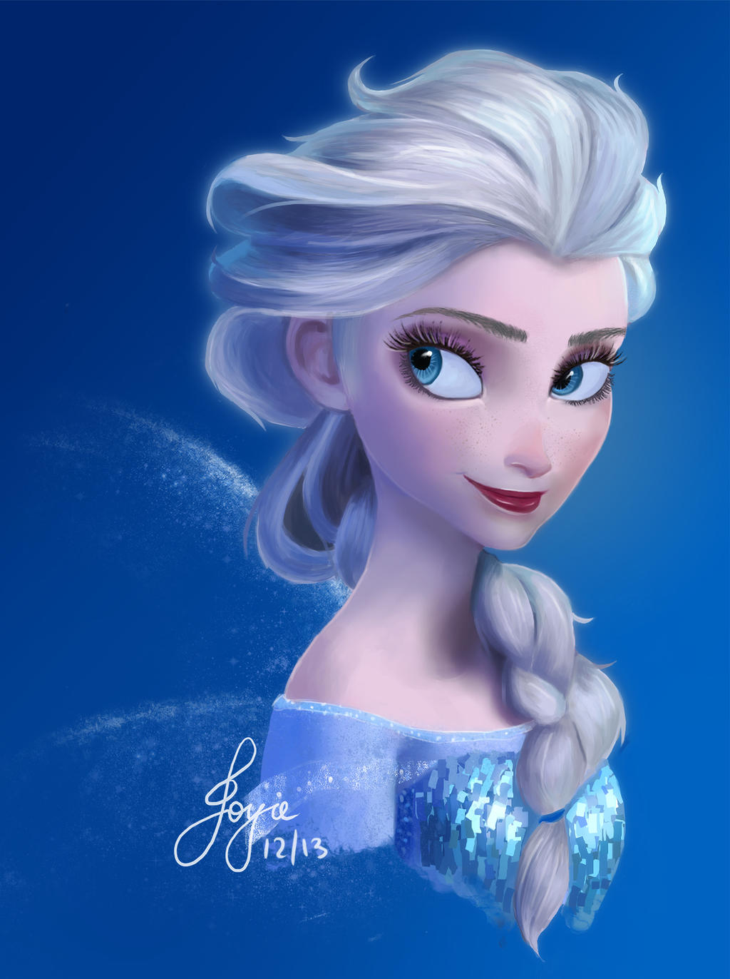 Elsa the Snow Queen by couph