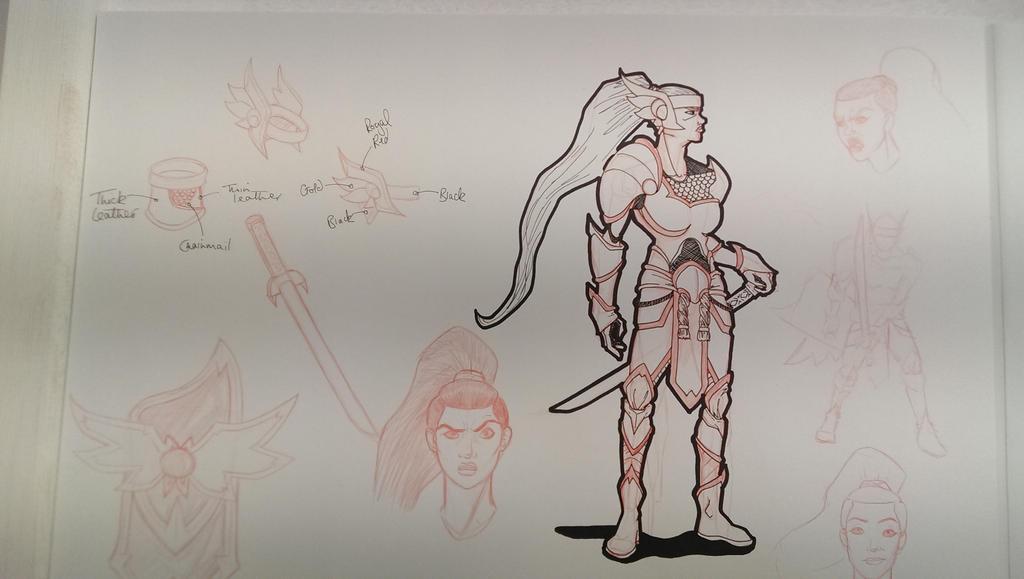 Female Warrior by jordanashworth
