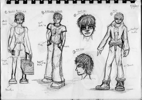 Video Game Character Sketch