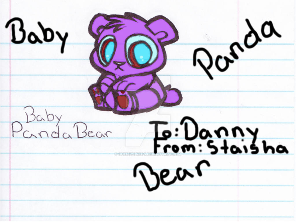 Panda Bear Colored by chessyoreos