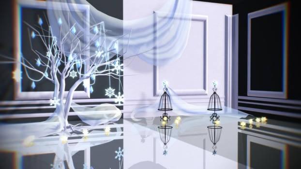 [MMD/DL] Snowflake stage! [stage/dl] by BrightShadowMMD