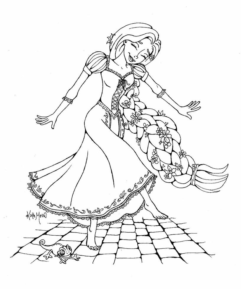 i disegni di rapunzel da colorare e stampare per bambine