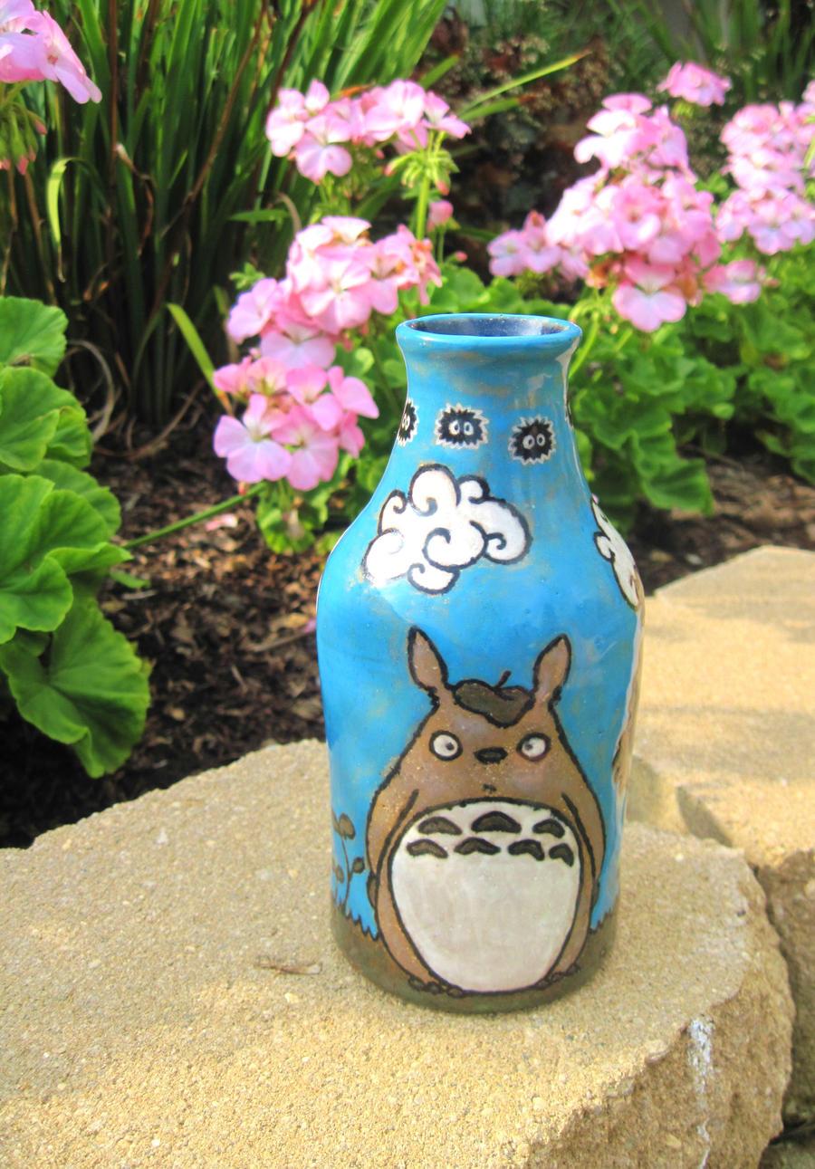 Totoro Pencil Holder by bummblebird