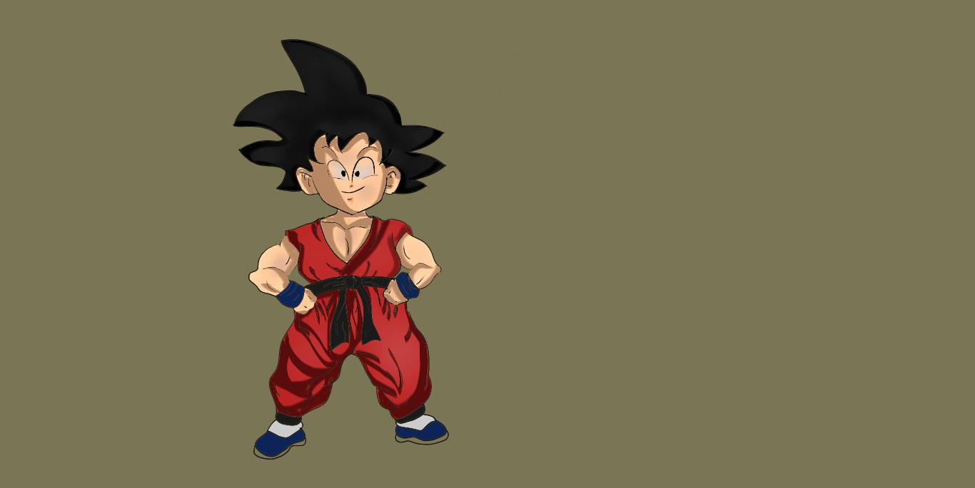 Kid Goku by Flavio170
