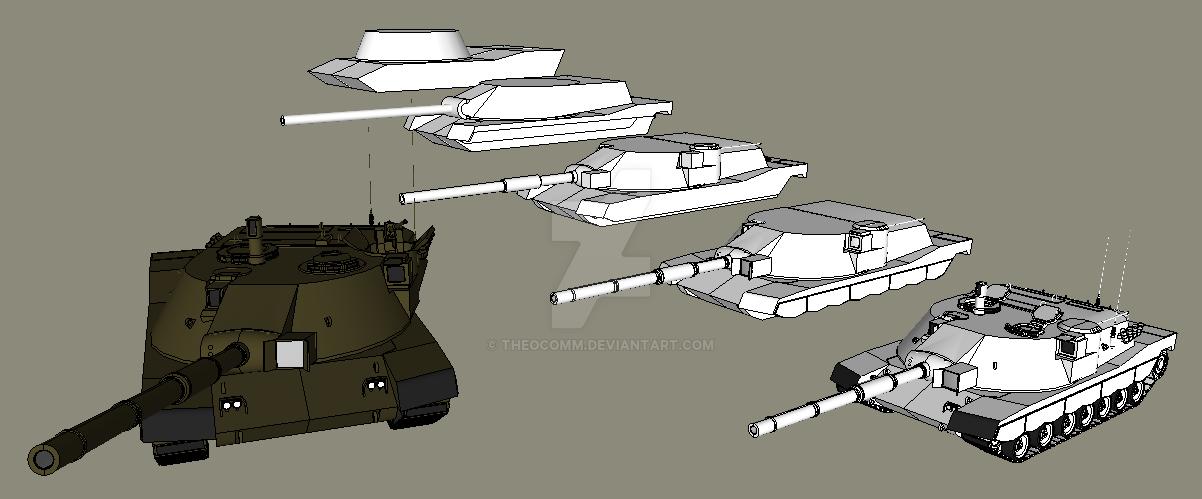 c9aa7c490f54 MBT-70 KPz-70 Design Process by TheoComm on DeviantArt