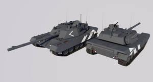 Schwerepanzer 62 Main Battle Tank by TheoComm