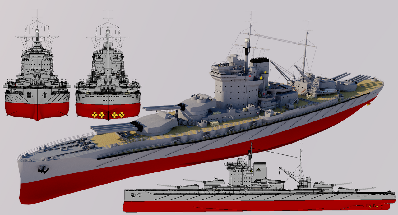 Righteous-class Super-Dreadnought 1940 Refit by TheoComm ...