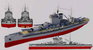 Righteous-class Super-Dreadnought 1940 Refit