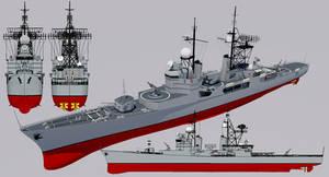 Justice-class Destroyer 1960 Refit