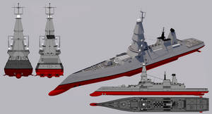 Conqueror-class Guided Missile Cruiser by TheoComm