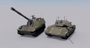 [Commission] Mastodon Heavy Tank and Warlock SPG