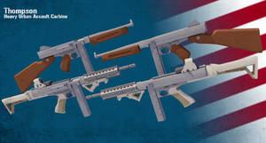 Modernized Thompson Submachine Gun