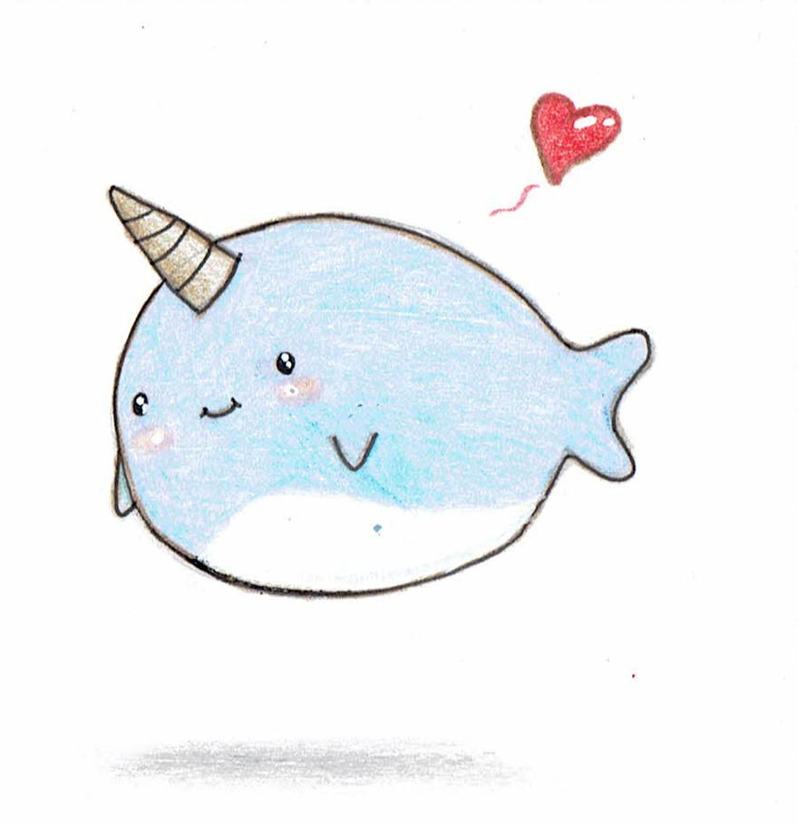 Post it note kawaii narwhal by limelit on deviantart - Cute narwhal wallpaper ...