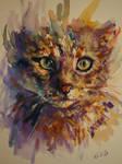 My cat watercolor
