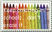 Coloring In Schools Stamp by Okitakehyate
