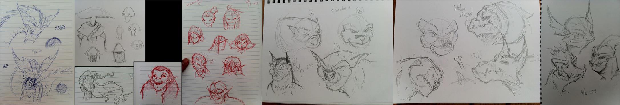 Sketchdump by Malinidk
