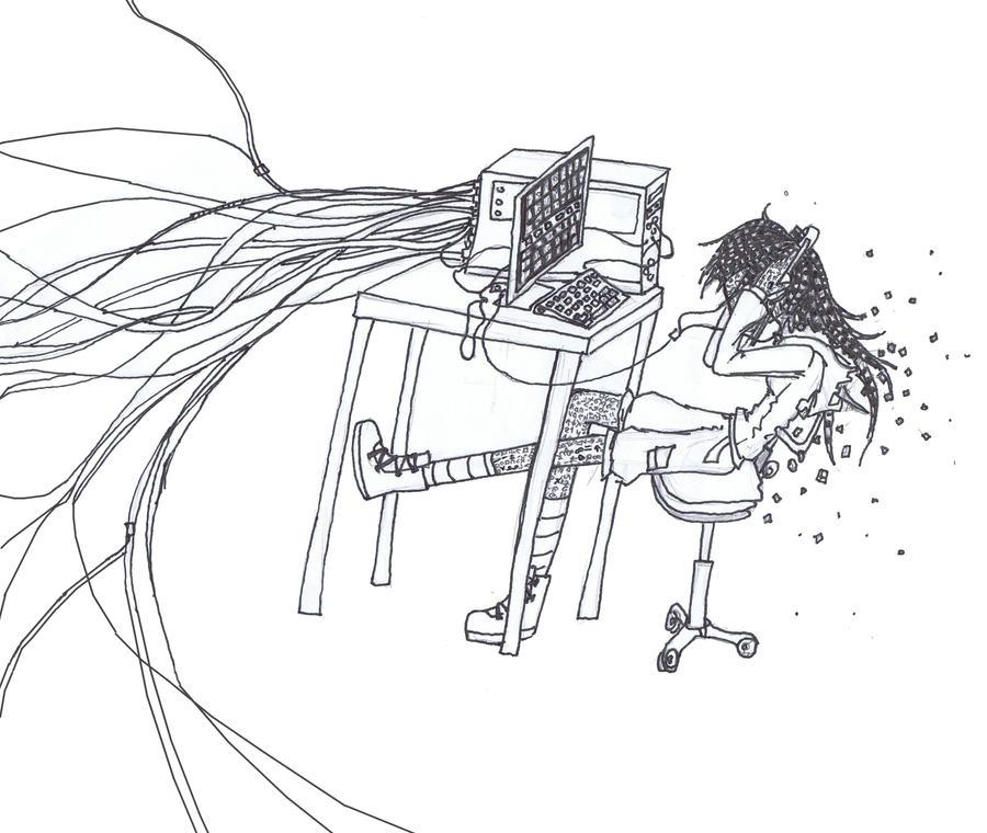 Computer virus by EDsnowydragon