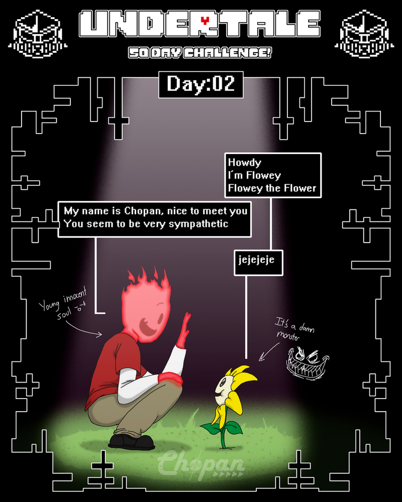 Undertale 50 Day Challenge 02 50 By Chopangigante On
