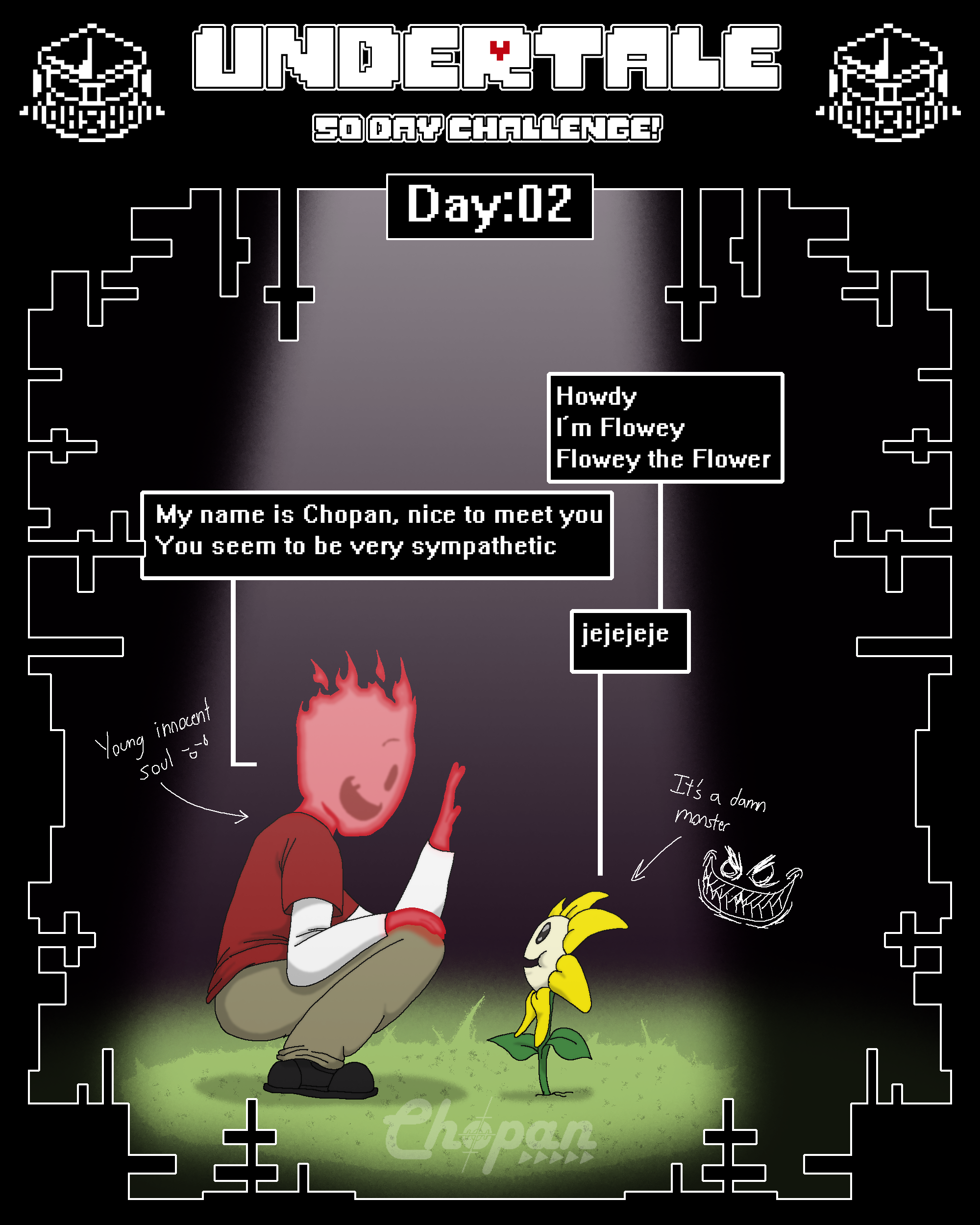 Undertale 50 day Challenge! 02/50 by Chopangigante on ...