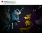 Sans vs Golden Freddy