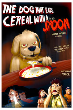 The dog that ate cereal with a spoon