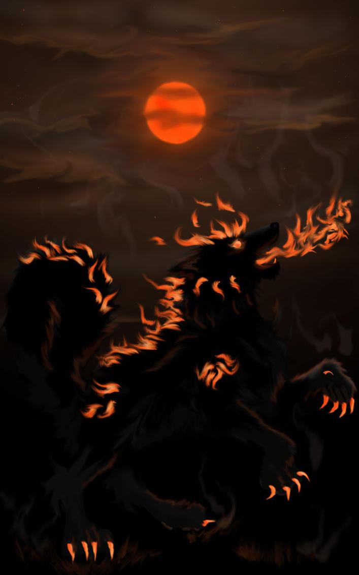 Bushfire Moon by Maxiewolf