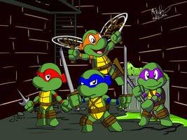 Teenage Mutant Ninja Turtles by NoDiceMike