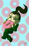 Rita in donut heaven