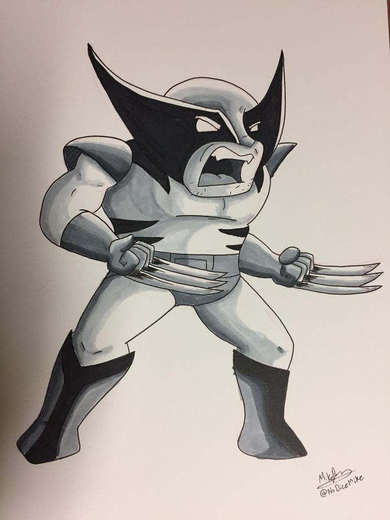 Inktober 2017 - Day 4 - Wolverine by NoDiceMike
