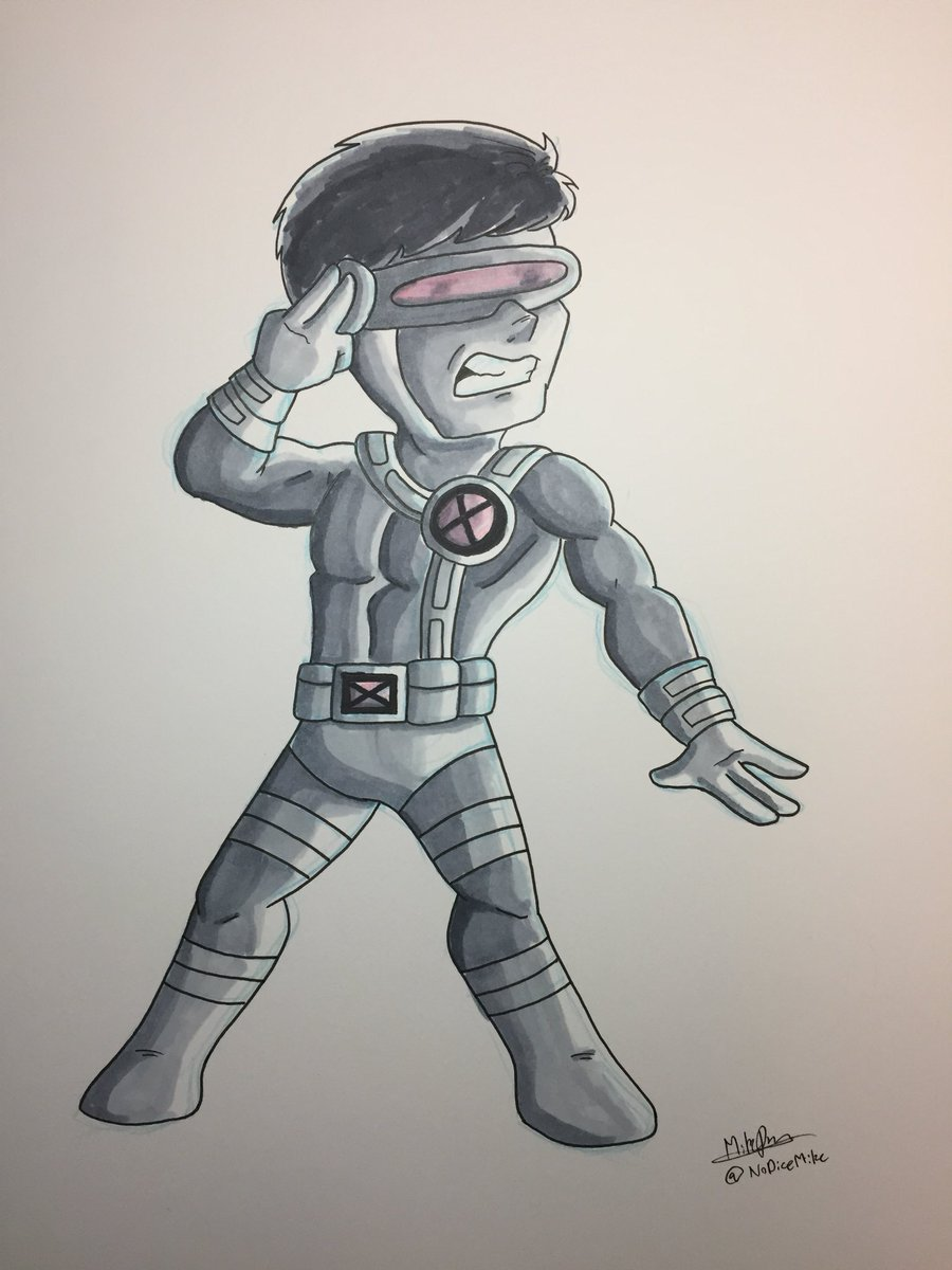 Inktober 2017 - Day 6 - Cyclops by NoDiceMike