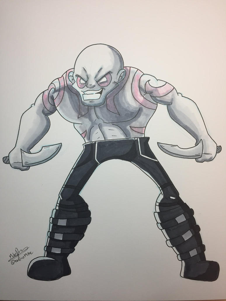 Inktober 2017 - Day 7 - Drax by NoDiceMike