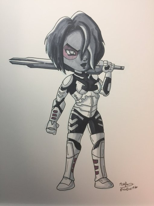 Inktober 2017 - Day 10 - Gamora by NoDiceMike
