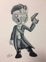 Inktober 2017 - Day 13 - Star Lord by NoDiceMike