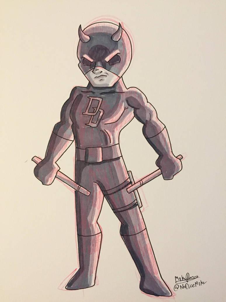 Inktober 2017 - Day 18 - Daredevil by NoDiceMike