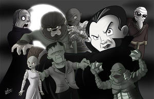 Universal Monsters by NoDiceMike