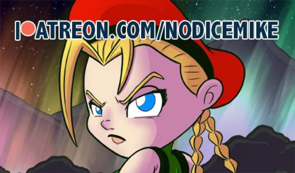 Cammy White illustration on Patreon by NoDiceMike
