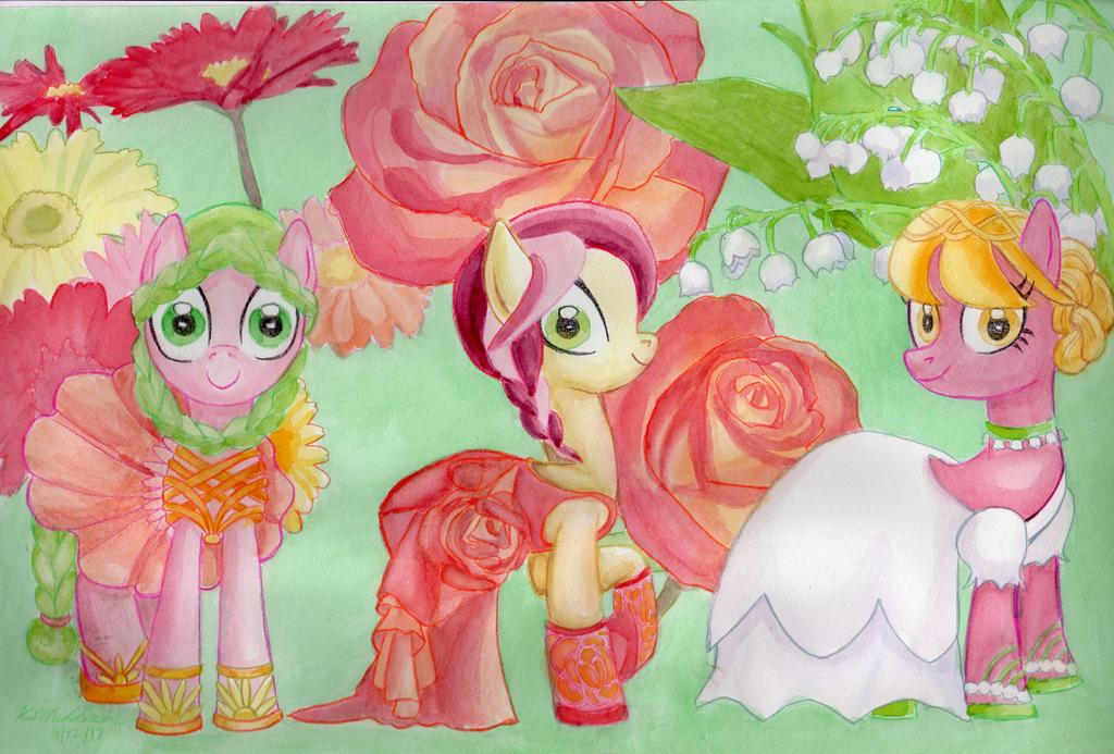 MLP Flowers of Harmony - Flower Pony Trio