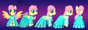 Fluttershy Gem Dress Turnaround