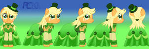 AppleJack Gem Dress Turnaround