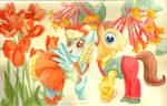 MLP Flowers of Harmony- Sassaflash And Caramel
