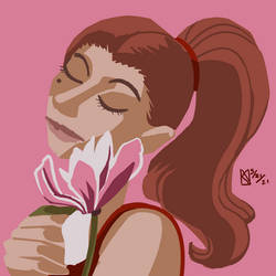 May 2021 Prompts- Magnolia Flower