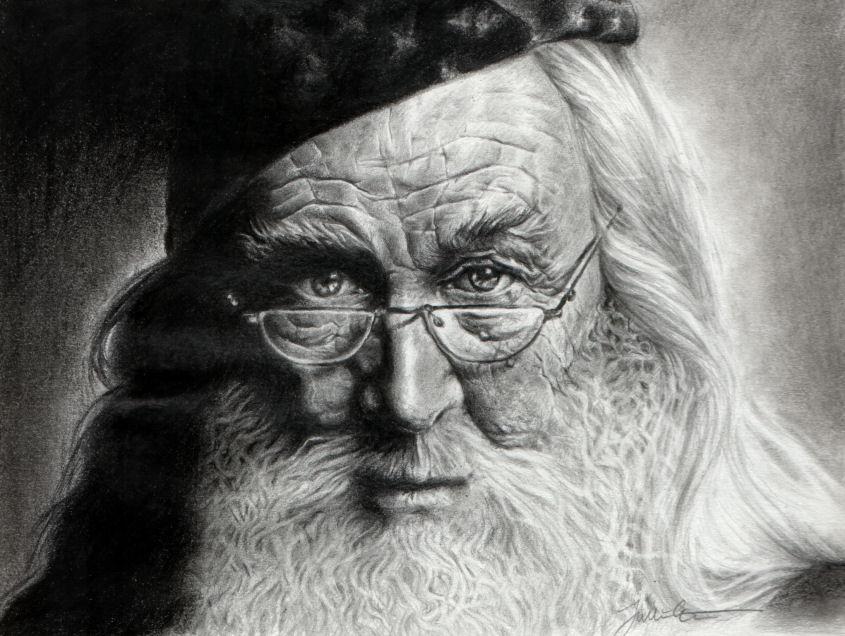 Jeu des dessins HP! ^^ Dumbledore_by_ThaulowC