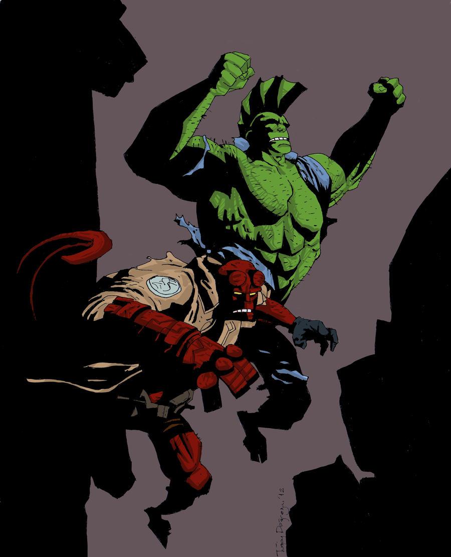 Savage Dragon And Hellboy Final Part By Rapidoadam