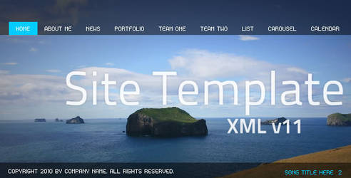 Flash Site Template XML v11 by flashmaniac1