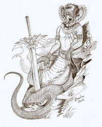 Karok cobra naga - commission by Zanten